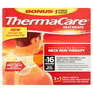 Thermacare Therma Care Heatwraps Advanced Neck Pain Therapy 4 Pack Sealed Box exp 8/18