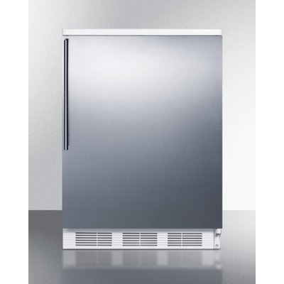 Summit FF67SSHV 5.5 Cu. Ft. Stainless Steel Undercounter Compact Refrigerator