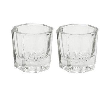 Onwon 2 Nail Art Acrylic Liquid Powder Dappen Dish Glass Crystal Cup Glassware Tools