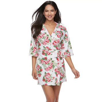 Women's Flora by Flora Nikrooz Floral Wrap Short Robe