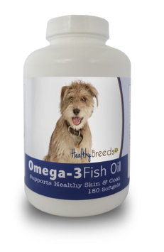 Healthy Breeds 840235141730 Mutt Omega-3 Fish Oil Softgels 180 Count