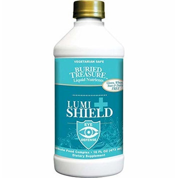 Buried Treasure: Lumi Shield Plus - AREDS 2 Comprehensive Eye Vitamin Formula with Lutein Meso-zeaxanthin and Zeaxanthin. Dr. Formulated Vision Support, Eye Health in Liquid Peppermint Flavor. 16 oz.