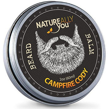 NATUREALLY YOU© - Beard Balm - Campfire Cody Scent - (2 oz) - Condition, Smooth, Soften, Tame, Remove Beard Itch