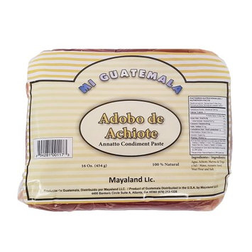 Diprosa Mi Guatemala Annatto Condiment Paste 16 oz - Achiote (Pack of 12)