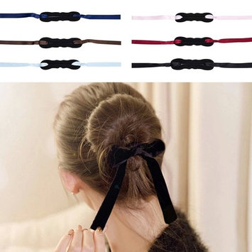 Polytree 6pcs Womens Bun Maker Shapers Hair Bow Band Hairband Hair Styling Tool Accessories