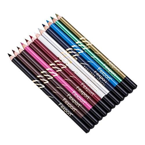 Unpara 12 Pcs Color Eyeliner Waterproof Multipurpose Makeup Pen Lip Pencial Eye Shadow Lipstick