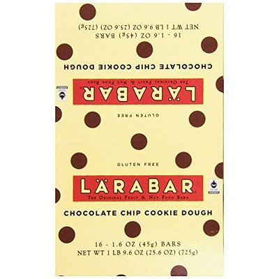Larabar Gluten Free Bar, Chocolate Chip Cookie Dough, 1.6 oz Bars