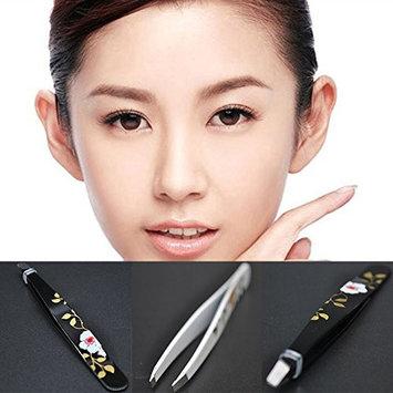 Professional Eyebrow Tweezers,Flower Print Hair Tweezer Stainless Steel for Men & Women(sent in random,as pictures show)