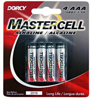 Dorcy 41-1624 Mastercell Long-Lasting AAA-Cell Alkaline Manganese Battery, 4-Pack