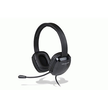 Cyber Acoustics USB STEREO HEADSET K-12 DURABLE IN-LINE VOL CTRL ADJ VINYL EAR PAD