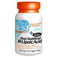 Doctor's Best Best Stabilized R-Lipoic Acid 200mg, Veggie Caps 60 ea