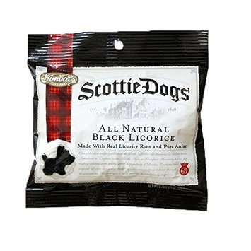 Gimbal's Black Scottie Dog Licorice Peg Bag - 12 Pack - Soft Scottie Dog Shaped Licorice - Natural Flavors - 2.7 oz Bags