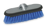 TOUGH GUY 2ZPC6 Flow Thru Brush Head, Silver And Blue