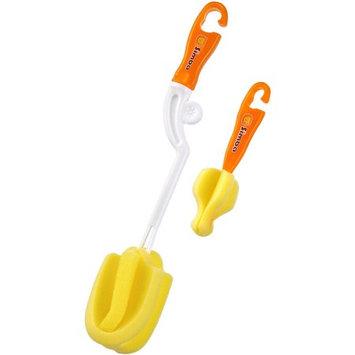 Mqbix Acoustics Technology Simba P1416-O Sponge Bottle Nipple Brushes, Orange