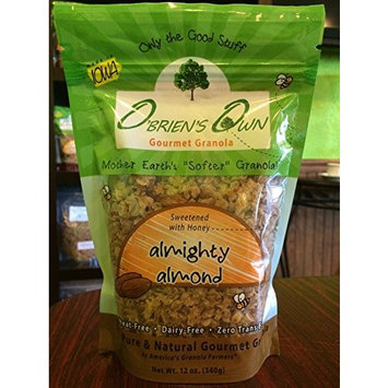O'Brien's Own Gourmet Granola (Nutty Buddy Trio) 12 oz. bags, 3 count