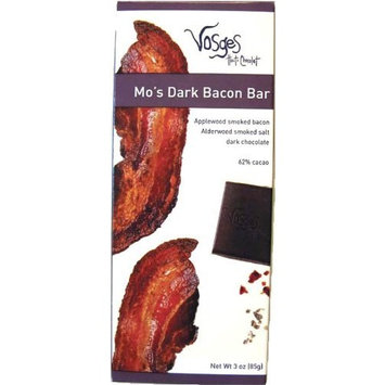 Vosges Haut-Chocolat Mo's Dark Chocolate Bacon, Pack of 12, 3 oz Bars
