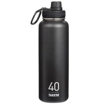 Thermoflask Double-Wall Vacuum Insulated Stainless - STAINLESS STEEL BLACK (40 Ounces Bottle) by Takeya at the Vitamin Shoppe