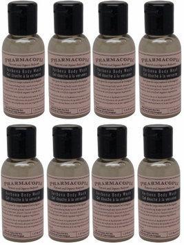 Pharmacopia Verbena Body Wash lot of 8 each 1.1oz bottles.8oz (Pack of 8)