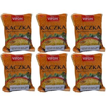Vifon Kaczka Zupa Blyskawiczna o Smaku Kaczki (Instant Noodle Soup with Duck Flavor) Mild - Pack of 6 (2.47 Ounces each)