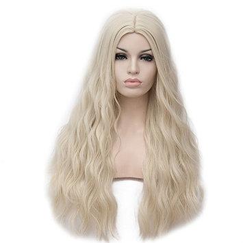 Amback Braid Styling Cosplay Wig for Daenerys Targaryen khaleesi, Long, Curly, Silver