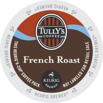 Tully'S Coffee French Roast Regular K-Cup Coffee Pack Case Of 96