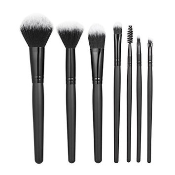 7pcs Makeup Brushes Tool Set Cosmetic Make Up Brush Kit Tools Foundation Powder Concealer Blush Eyeshadow Brushes