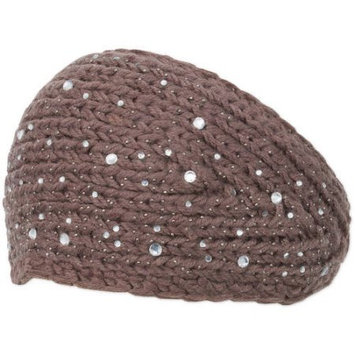 Magid Knit Wide Headwrap, with Rhinestones