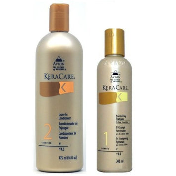 Avlon Keracare Leave in Conditioner 16oz + Shampoo for Color Treated Hair 8oz
