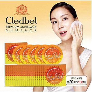 Cledbel Premium Sunblock sunscreen SUN Pack 10box 50pcs Eye Cream 5pcs SPF 50+PA +++ Skin care Sunscreen UVA UVB Protection