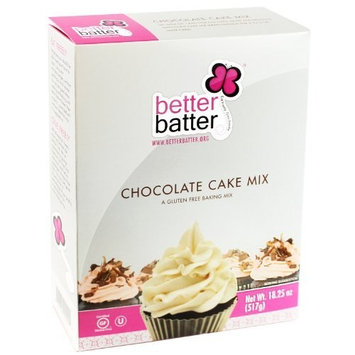 Better Batter Gluten-Free Chocolate Cake Mix - Kosher, Vegan, 18.25oz [Standard Packaging]