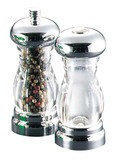 Del Sol Chrome Salt & Pepper Set