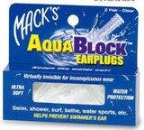 Mack's AquaBlock Earplugs (2 Pair) - Clear