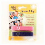 Baby Buddy Secure-A-Toy 2ct Pink-Purple - Case of 24