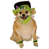 Monster Dog Costume with Headpiece and Cuffs MEDIUM