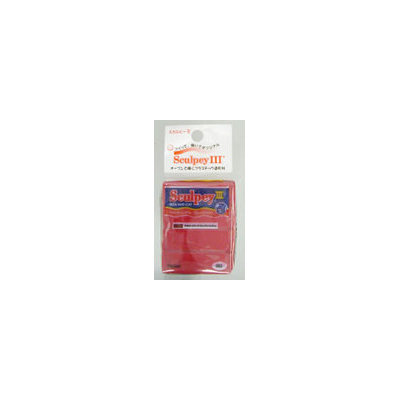 Polyform Sculpey III Polymer Clay 2 Ounces-New Red