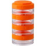 Blender Bottle GoStak 40cc 4Pak Twist n' Lock Storage Jars- Orange