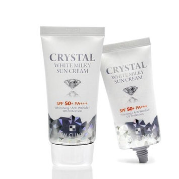 3W Clinic Crystal White Milky Sun Cream SPF50PA+++ 1.69Oz Anti-Wrinkle Whitening