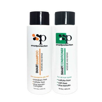 Moisture Shampoo and Conditioner Sulfate & Paraben Free 16oz for Keratin Treated Hair by Smart Protection
