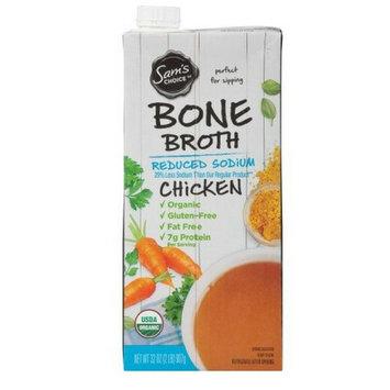 Sam's Choice Organic Chicken Bone Broth, Reduced Sodium, 32 oz (1) (1)