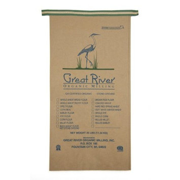 Great River Organic Milling, Organic Whole Grains Pearled Barley, 25-Pound Package [Pearled Barley]