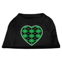 Dog Supplies Argyle Heart Green Screen Print Shirt Black Xxxl (20)