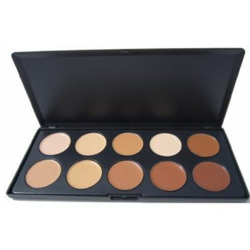 New!!! Ml Collection 10 Color Camouflage Concealer Palette, Cream Nature