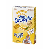 Diet Snapple Singles To Go Water Drink Mix – Lemon Tea Flavored Powder Sticks (12 Boxes with 6 Packets Each – 72 Total Servings)