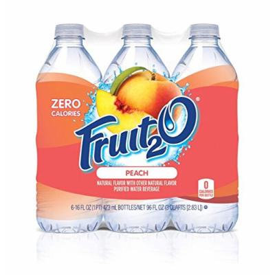 Fruit2O Flavored Water, Peach, 6 Count (Pack of 4)