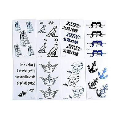 COOLBLOOM 8 Sheets Art Temporary Tattoo Transfer Sticker Fashion Waterproof Sternum Tattoos Creating Your Own Temporary Art Personalized Tattoos Stickers Long Lasting