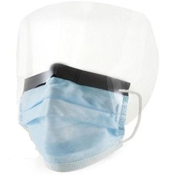 Orsini Fluid-Resistant Procedure Masks with Eye Shield One Size Fits Most Blue (Pack of 25)
