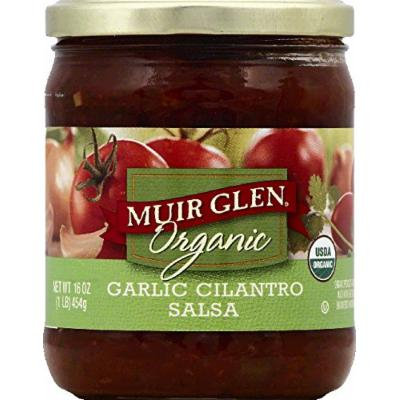Muir Glen Organic Medium Salsa Garlic Cilantro -- 16 oz