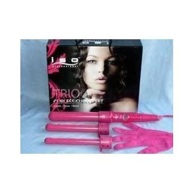 ISO Beauty Pink Trio Curling Iron - 3 Barrels