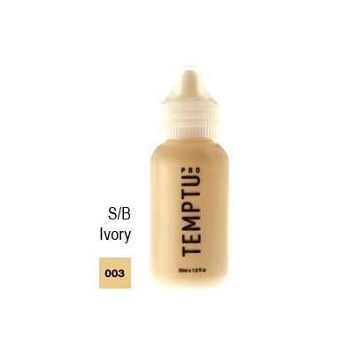 Temptu Pro Silicon Based 003 Ivory 4oz. S/B Foundation Bottle