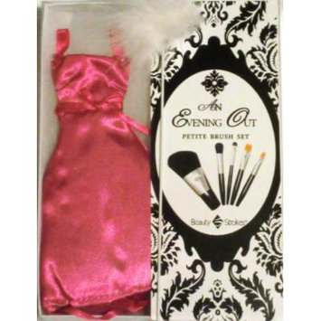 Beauty Strokes - Petite Evening Out/Wedding Brush Set, Hot Pink Dress